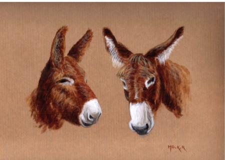 Léon et Prune, acrylique sur papier, 47 x 35