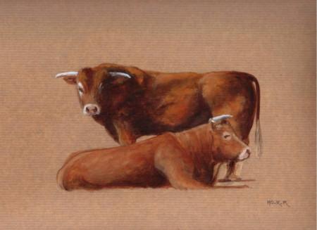 Elle et Lui, acrylique sur papier, 27 x 17