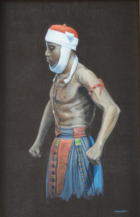 Concentration, acrylique sur toile, 66 x 43
