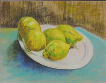 D'après Vincent Van Gogh, Nature morte aux citrons
