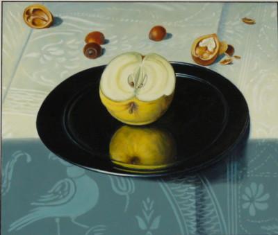 D'après F Claez van Dijck,  Nature morte aux fromages, détail.