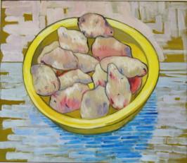D'après Van Gogh, Nature morte avec pommes de terre dans un plat jaune