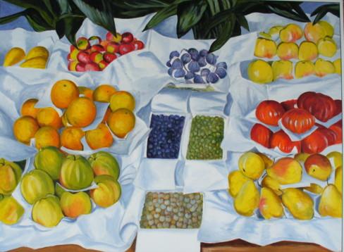 D'après Caillebotte, Fruits à l'étalage