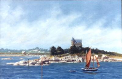 Le château de Costaeres, huile sur toile
