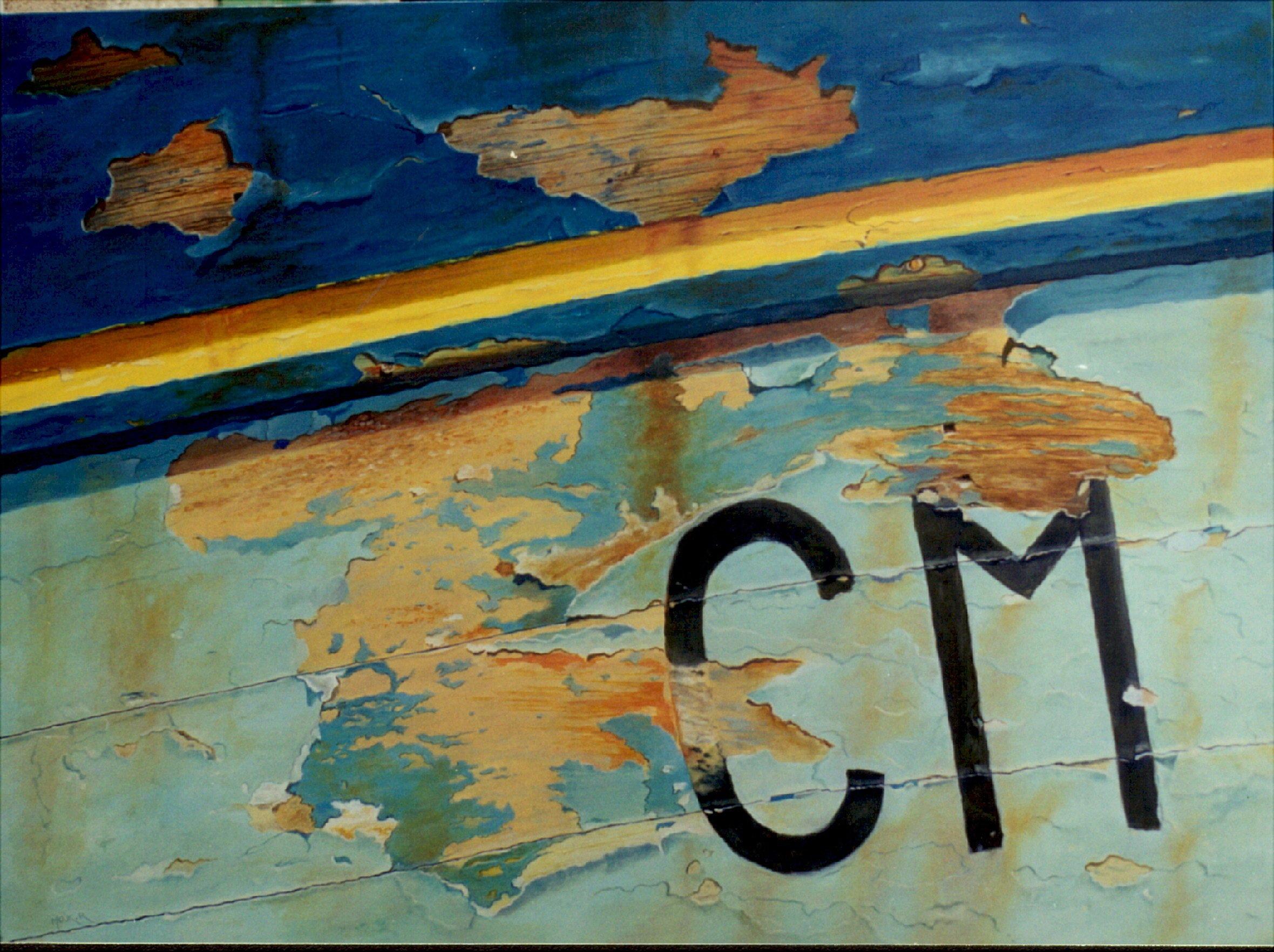 CM, huile sur toile, 81 x 60